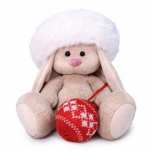 Мягкая игрушка  Зайка Ми в белом берете 15 см цвет: серый/розовый Budi Basa