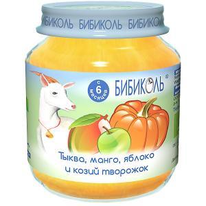 Пюре  тыква, манго и козий творожок с 6 мес, шт по 125 г Бибиколь