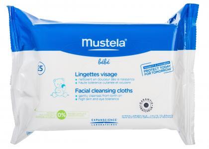 Салфетки  очищающие для лица, 25 шт Mustela