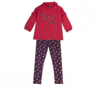 Комплект для девочек свитшот и леггинсы 09076358 Chicco