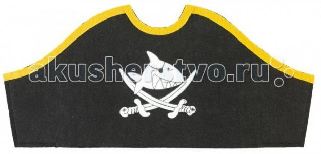 Шаблон пиратская шляпа из бумаги