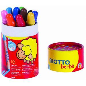 Набор цветных карандашей Giotto be-be Super Largepencils, в пенале-тубусе Bebe