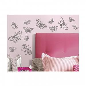 Наклейки для декора Мерцающие бабочки Roommates