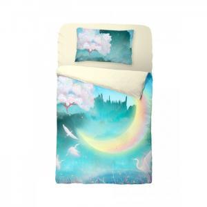 Постельное белье  New moon на резинке (3 предмета) Облачко