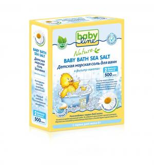 Соль для ванн  успокаивающая морская успокаивающая, 500 гр Baby Line