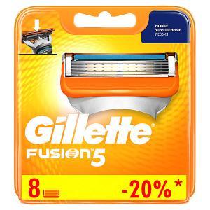Сменные кассеты  Fusion5, 8 шт Gillette