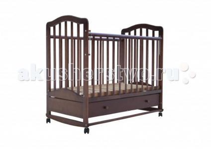 Детская кроватка  6 с ящиком качалка Лаура
