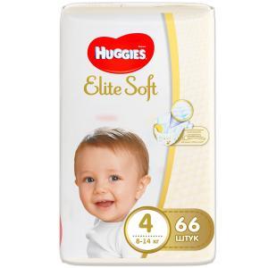 Подгузники  Elite Soft 4 (8-14 кг) 66 шт. Huggies