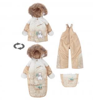 Комплект куртка/полукомбинезон/сумка  Пони, цвет: бежевый Alex Junis