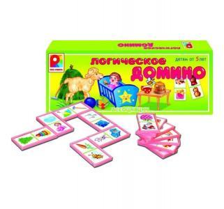 Настольная игра  Логическое Домино. Ассоциации Радуга