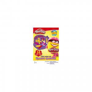 Цветная бумага 16 цветов, Play-Doh Академия групп