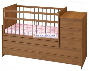 Кроватка-трансформер  Варвара поперечный маятник Бэби Бум
