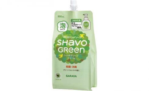Жидкое пенящееся мыло для рук Shavo Green 0,9 мл Saraya