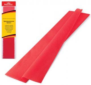 Бумага цветная нестандарт  крепированная красная Brauberg