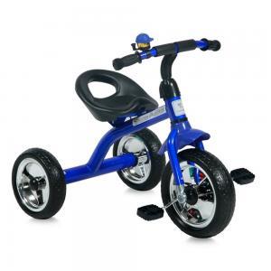Трехколесный велосипед  A28, цвет: blue/black Lorelli