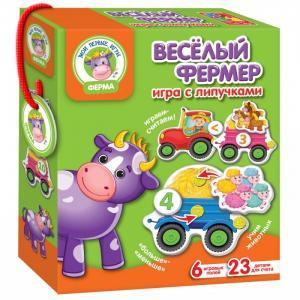 Развивающая игра с липучками Веселый фермер Vladi toys
