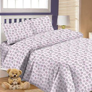 Детское постельное белье 3 предмета , BG-66 Letto. Цвет: розовый