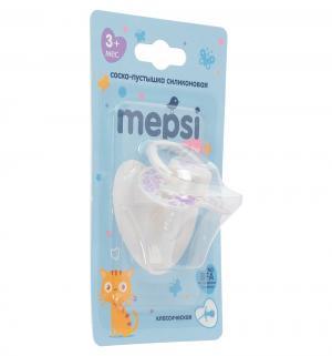 Соска-пустышка  Классическая силикон, с 3 мес, цвет: фиолетовый Mepsi