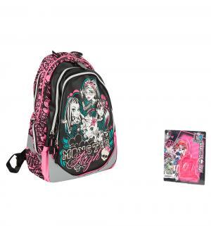 Рюкзак  спинка-поролон с вентиляционной сеткой отделения для ноутбука Monster High