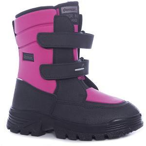 Ботинки Matti для девочки Demar. Цвет: черный