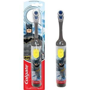 Электрическая зубная щетка  Batman супермягкая, на батарейках Colgate