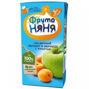 Восстановленный сок  яблоко-абрикос, 200 мл ФрутоНяня