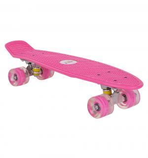 Скейтборд  JC-001, цвет: розовый Leader Kids