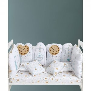 Бортик в кроватку  Набор Milk&Cookie 10 шт. Крошка Я