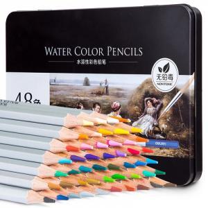Карандаши цветные акварельные в металлической коробке Nuevo 48 цветов Deli