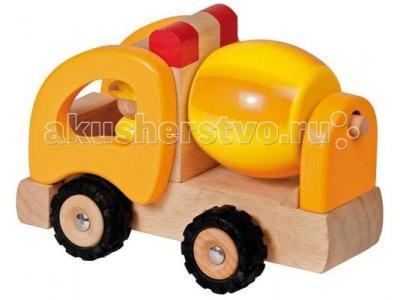 Деревянная игрушка  Машинка Бетономешалка Goki