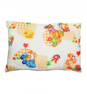Подушка Игрушки 50 х 70 см, цвет: белый Cleo