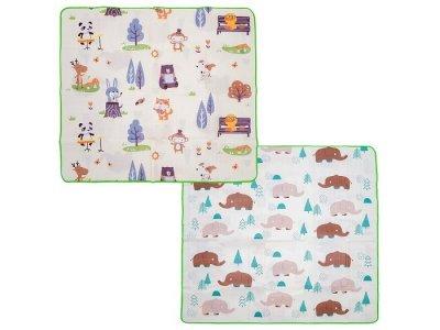Игровой коврик  Музыкальные животные и Милые слоники 180х150х0.5 см BabyPol