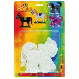 Основы для термомозаики  Perlen Лошадь. Собака. Кошка, 3 шт. Hama. Цвет: белый