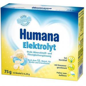 Молочная смесь  Электролит со вкусом банана с 12 месяцев, 75 г Humana