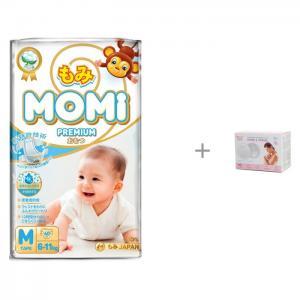 Premium Подгузники M (6-11 кг) 60 шт. и Ультратонкие прокладки для груди ROXY Home&Travel Momi