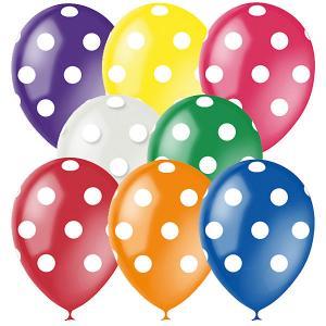 Воздушные шары Горошек 8 цветов 25 шт, 12/30см, серия Декоратор Latex Occidental