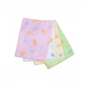 Пеленка  для новорожденных фланелевая Дочке Зверюшки 4 шт. Чудо-чадо