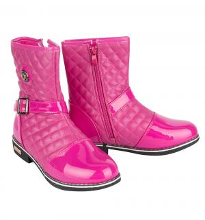 Сапоги , цвет: розовый Леопард