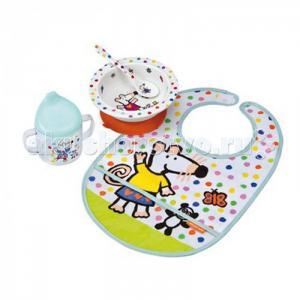 Набор детской посуды Mimi с нагрудником Petit Jour