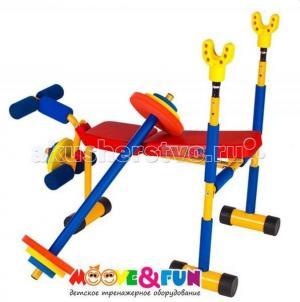 Тренажер подставка под штангу (скамья для жима) Moove&Fun