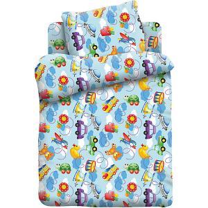 Детское постельное белье 1,5 сп. Кошки-Мышки (70х70см) Игрушки. Цвет: разноцветный