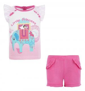 Комплект футболка/шорты , цвет: розовый Silversun