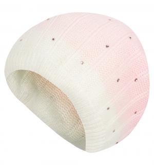 Шапка , цвет: белый/розовый Gulliver
