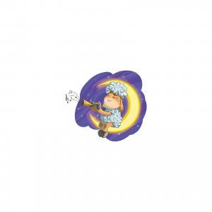 Живопись на холсте 30*40 см Овечка Луне Белоснежка