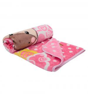 Плед  90 х см, цвет: розовый Три медведя