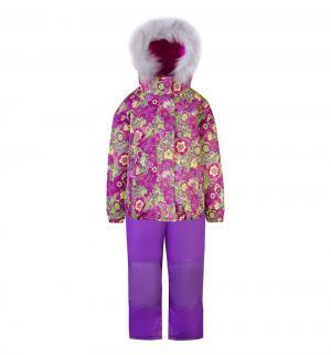 Комплект куртка/полукомбинезон , цвет: розовый/желтый Gusti
