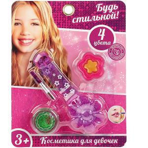 Косметика для девочек  Блеск губ. Будь стильной, 4 цвета Играем вместе