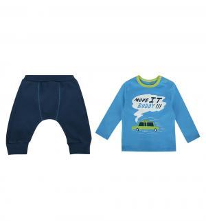 Комплект джемпер/брюки , цвет: голубой/синий Bembi