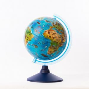 Глобус Зоогеографический детский 21 см с подсветкой Globen