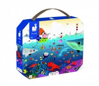 Пазл в чемоданчике Подводный мир (100 элементов) Janod